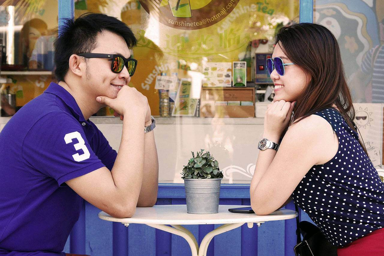 Couple Sunglasses at Cafe 1280x853