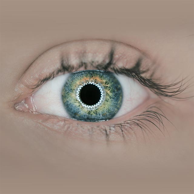 optometrsit, colorful eye in Parker, CO