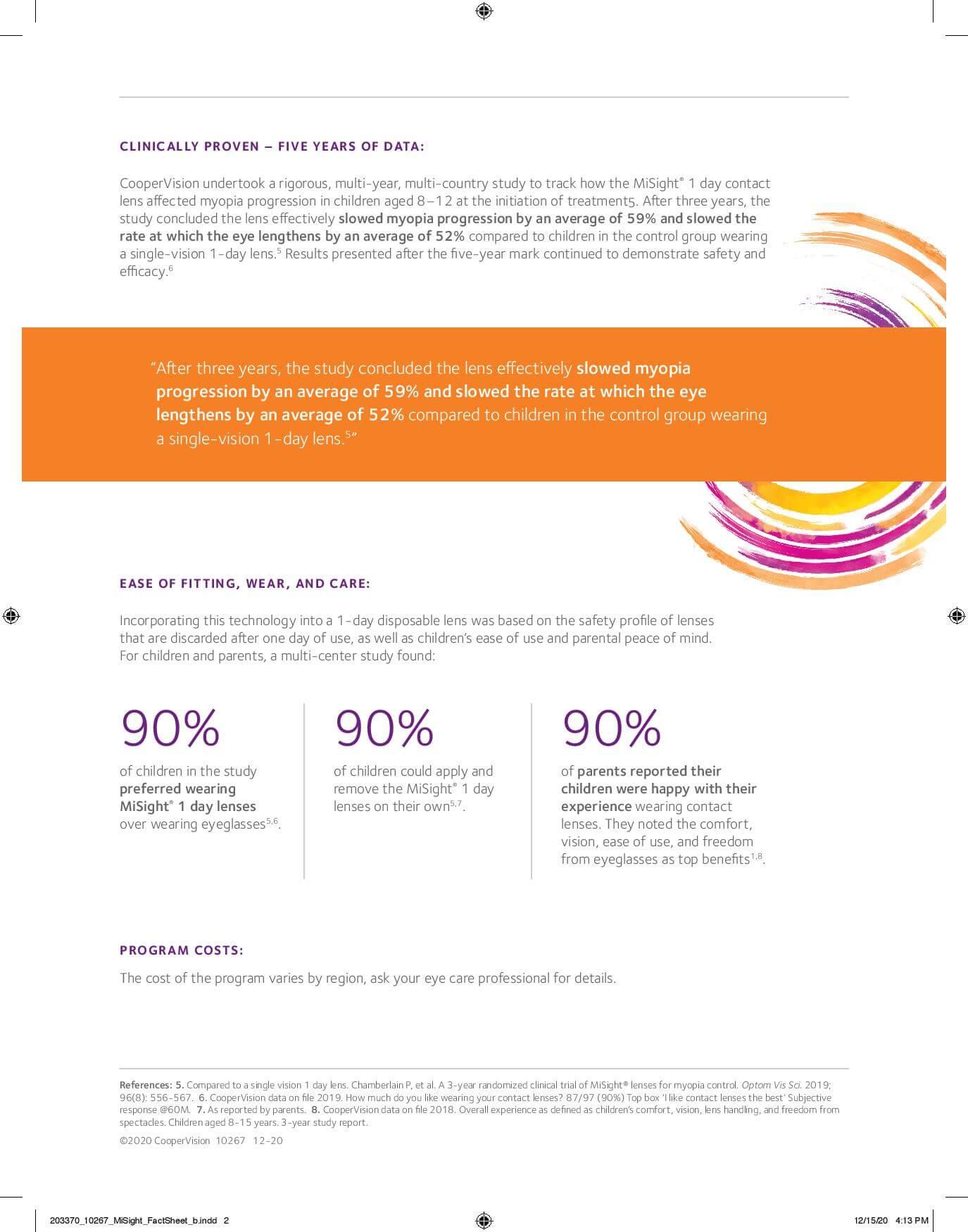 MiSight Fact Sheet - Page 2