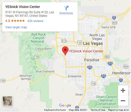 YESnick Vision Center Map June2021