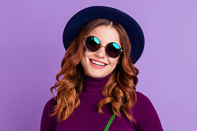 lady with sunglasses