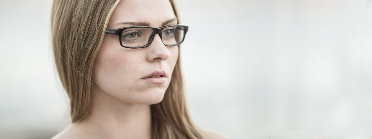 Eye exam, girl with eyeglasses in Hartsdale, NY