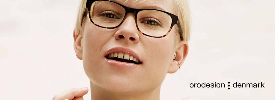 Eye doctor, woman wearing Prodesign Denmark eyeglasses in Hartsdale, NY