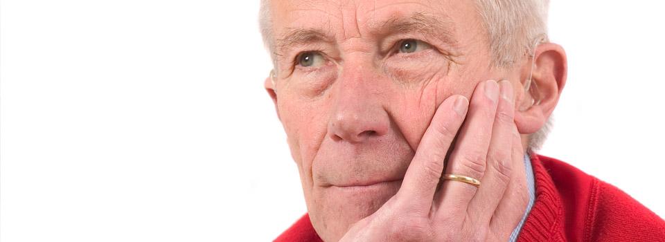 Older man with Diabetic Retinopathy