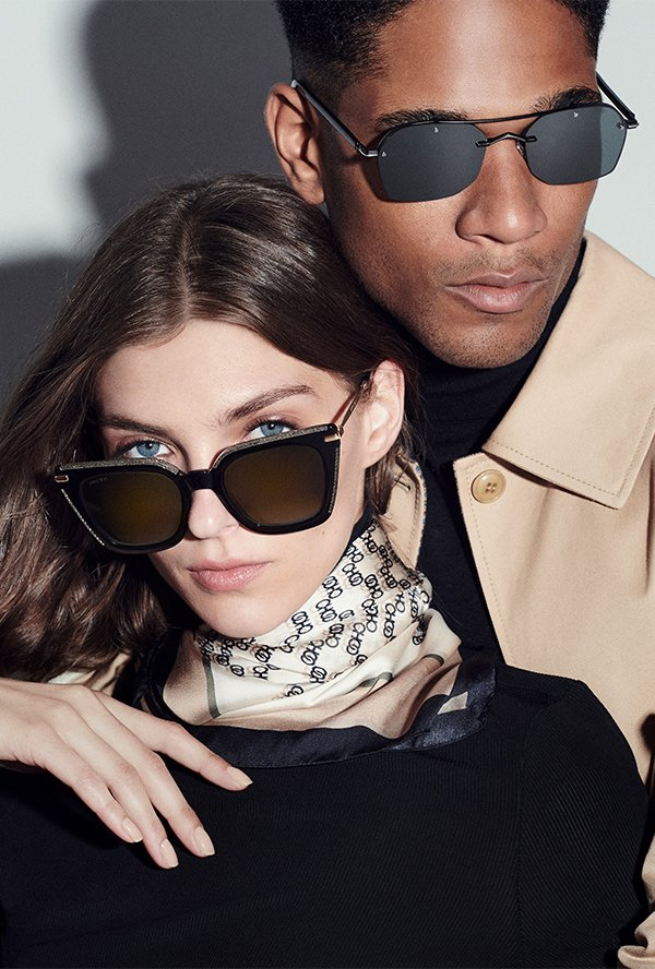2 pairs of stylish sunglasses