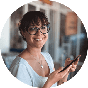 smile woman w phone 300×300 (1)