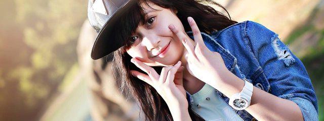 Eye doctor, happy asian girl in San Francisco, CA