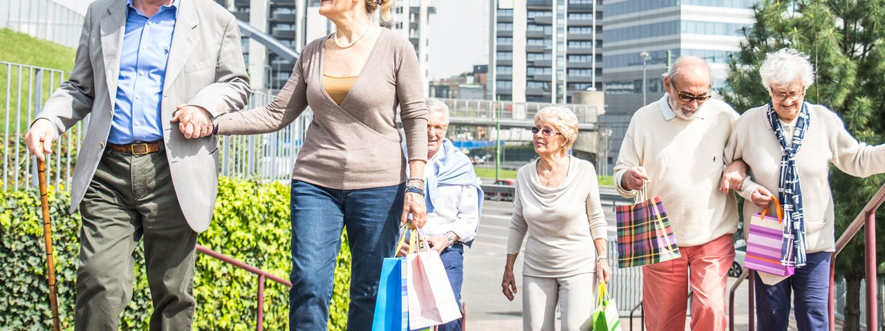Group of senior walking together, Eye Doctor in Totowa, NJ