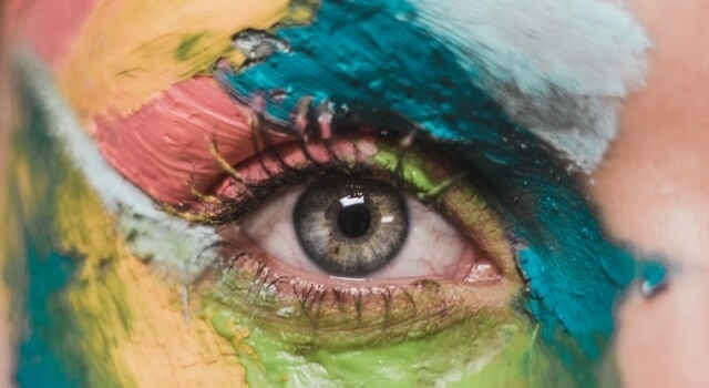 eye colorful face paint 640