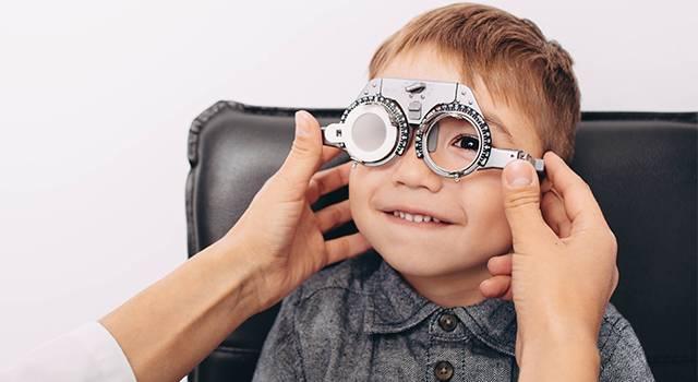 Child Eye Exam Boy