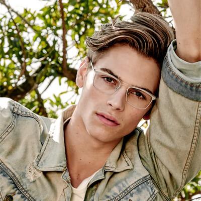 man wearing kliik eyeglasses