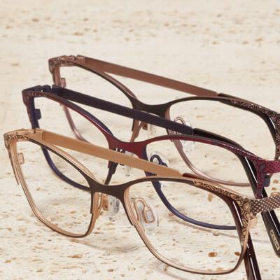 multiple pairs of kliik eyeglasses