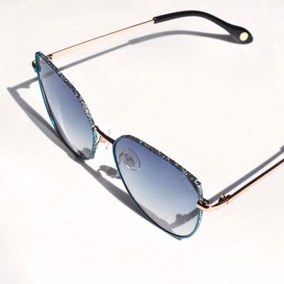 pair of blue tinted fysh eyeglasses