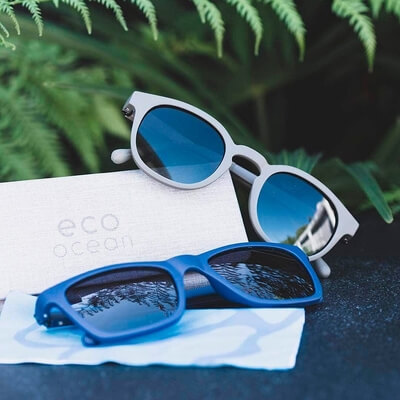 two pairs of eco sunglasses