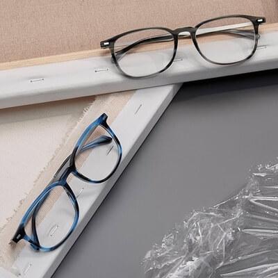 two pairs of hugoboss eyeglasses