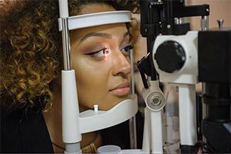 african american woman getting eye exam 2