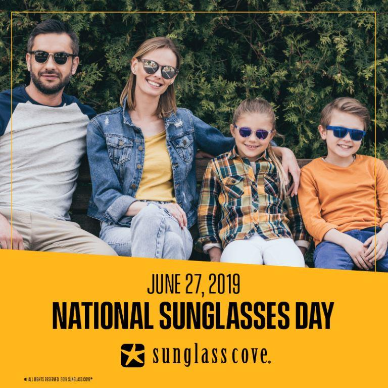 Sunglass Day 2019 Family wearing sunglasses outside in West Toronto, ON