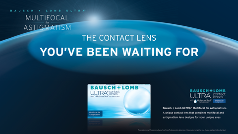 ULTRA Multifocal for Astigmatism Contact Lenses at Village Optical