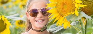 Girl Sunglasses Sunflower