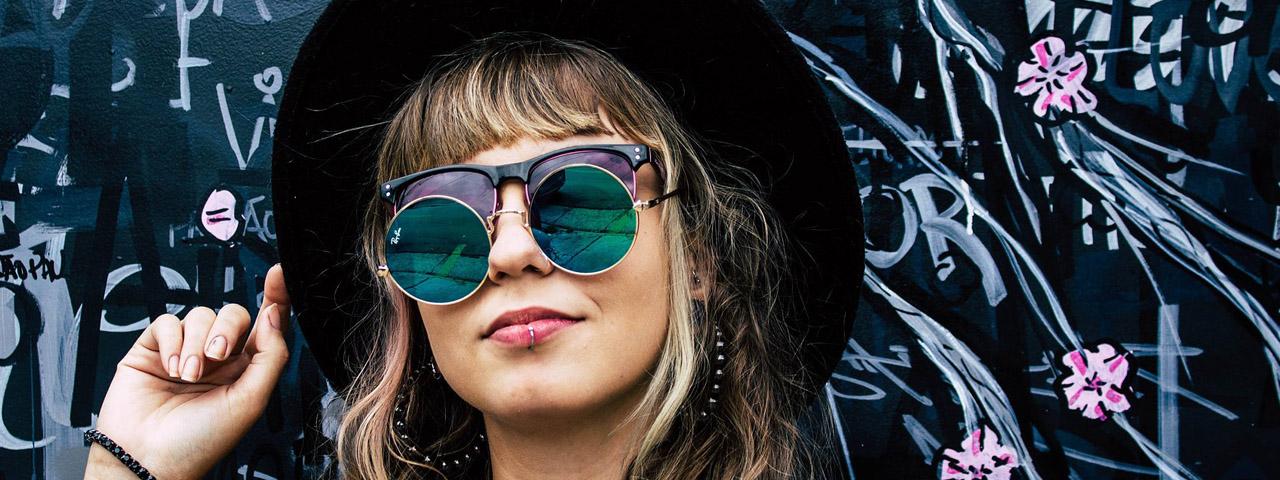 Optometrist, woman wearing Christian Celine sunglasses in Oak Brook, IL