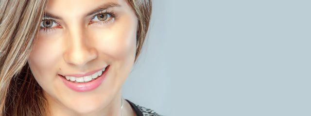 Eye doctor, woman wearing contact lenses in Ashburn, Virginia