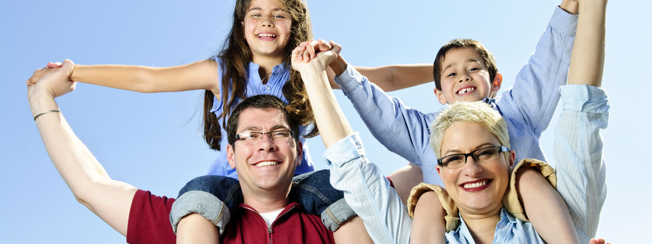 Family enjoying good vision