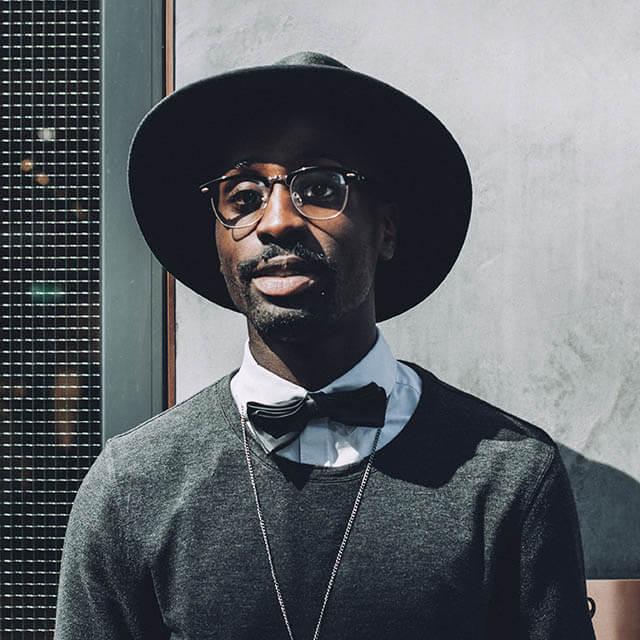 African-American man wearing eyeglasses