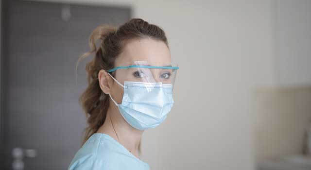 eye doctor wearing mask in San Jose, California