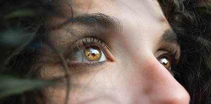 Close up of woman's eyes in Blaine