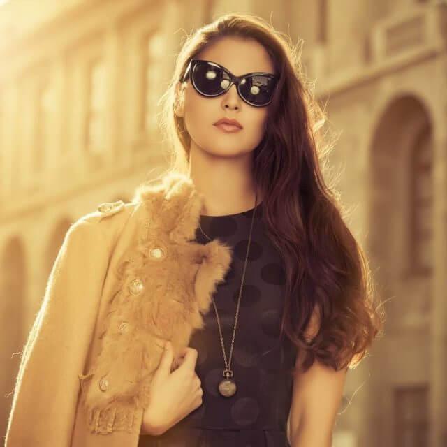 girl wearing designer sunglasses in Gonzales