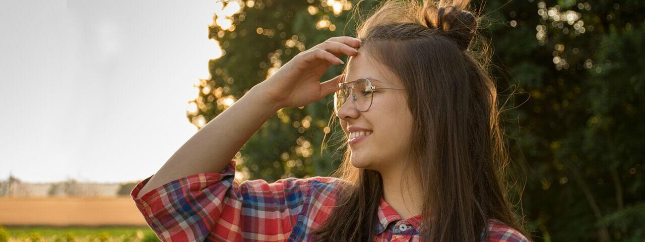 glasses senior hispanic