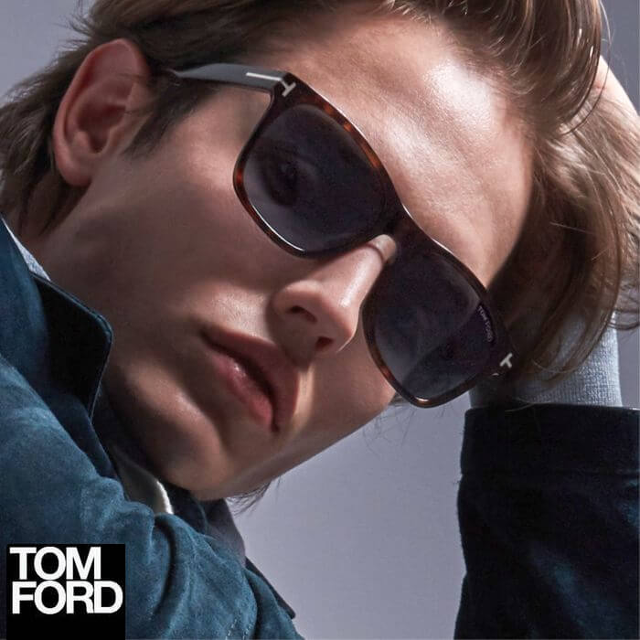 young man wearing tom ford sunglasses in Calgary
