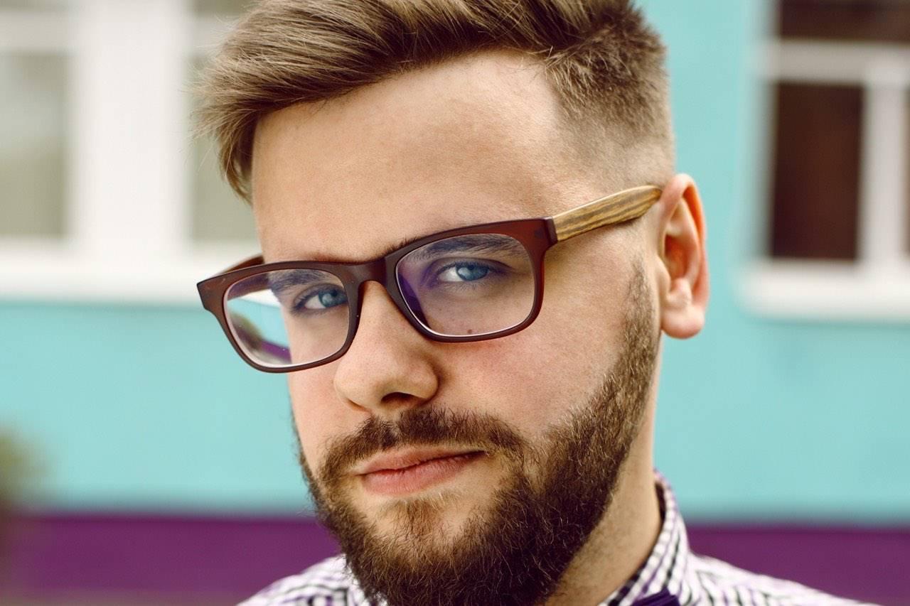 eyeglasses male hipster head