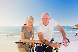 an old couple seaview bicycle Thumbnail