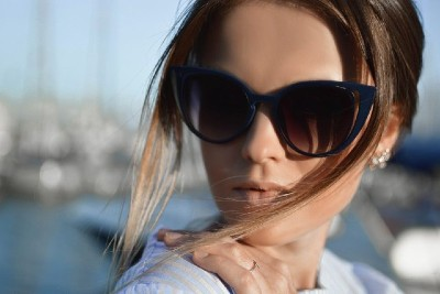 Woman Blue Sunglasses400
