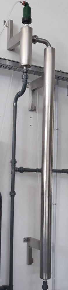 Ozonized water supply system for dairy plants