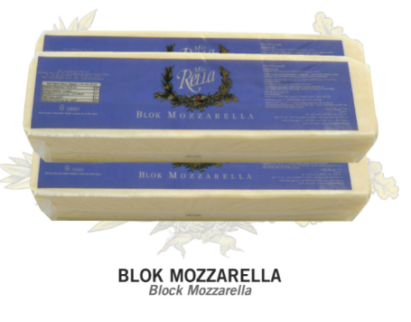 100 % Pure Milk Fat Block Mozzarella
