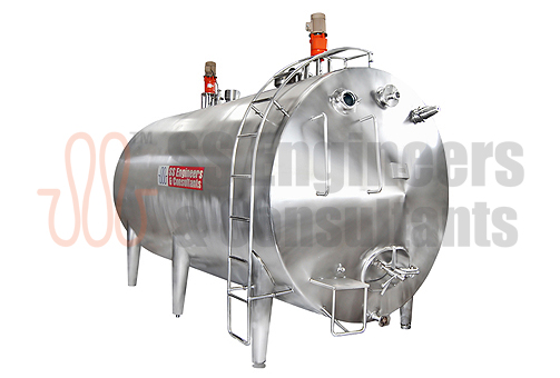 """SSEC"" Horizontal Milk Storage Tanks"