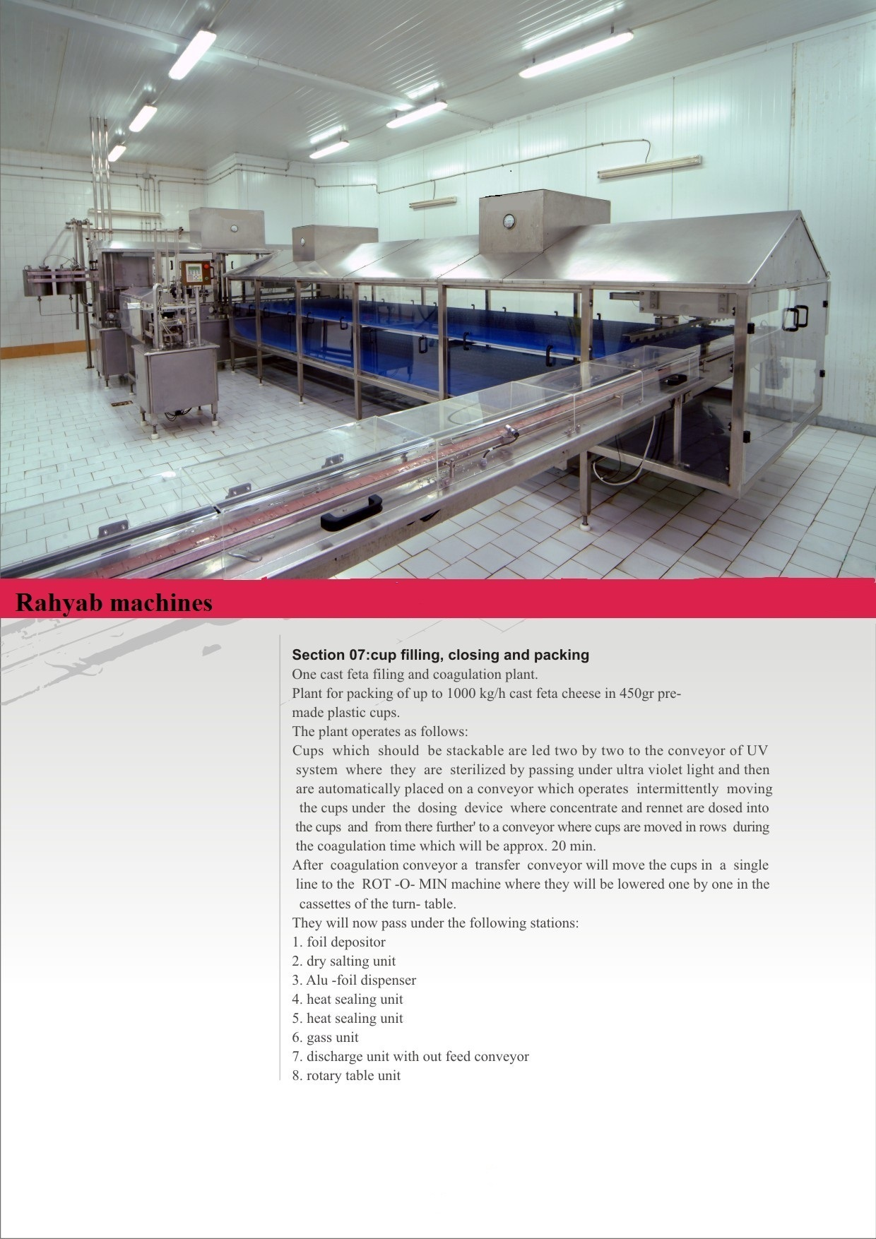 Ultrafiltration cheese line