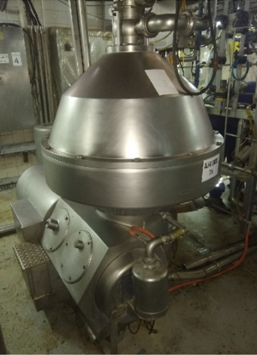 "Centrifugal separator with hermetic self-cleaning discs ""Alfa Laval"""