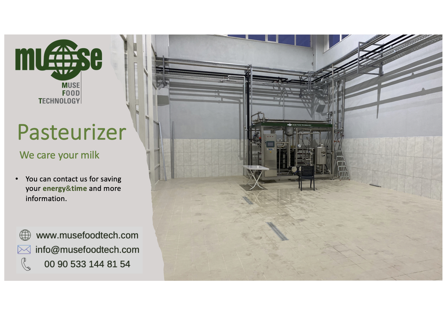 Milk Pasteurizer Muse Food Technology