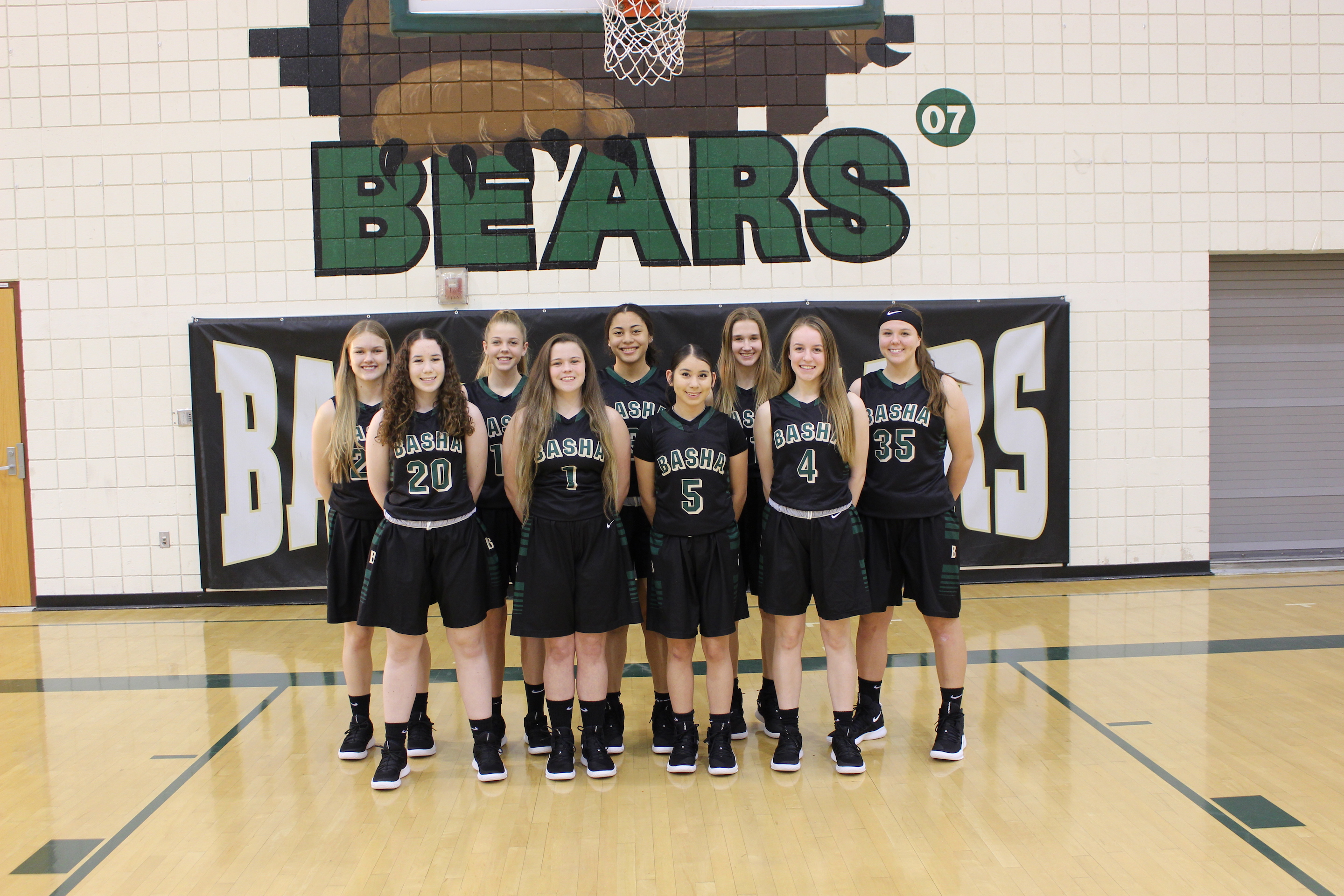 2019 - 2020 Basha Girls Basketball - Support Your Bears!