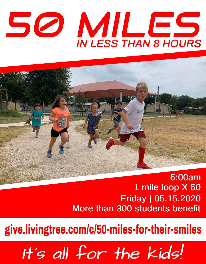 50 MILES FOR THEIR SMILES