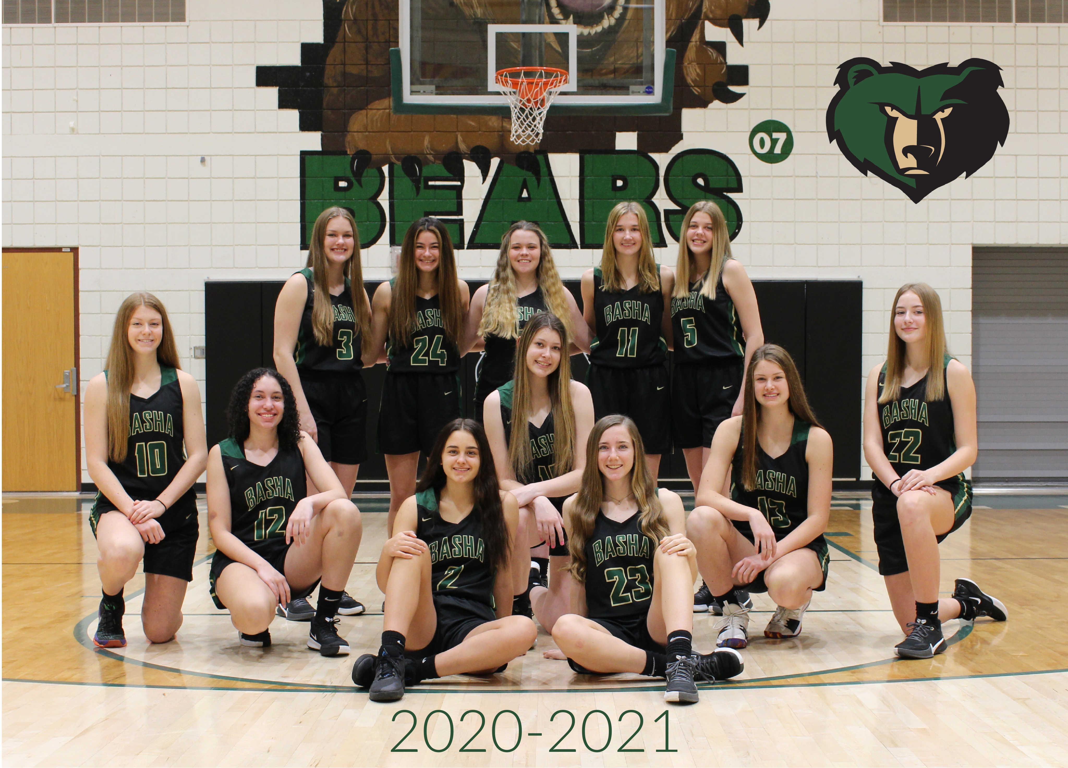 2020 - 2021 Basha Girls Basketball - Support Your Bears!