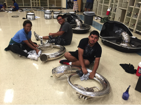Sousaphone for the Reagan High School Band