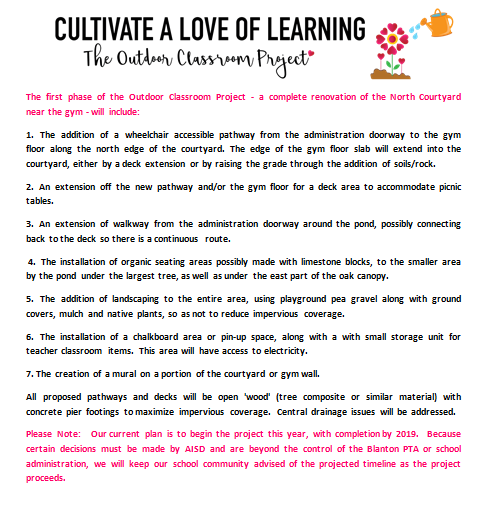 Cultivate a Love of Learning - The Outdoor Classroom Project