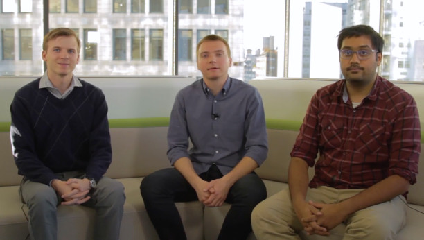Mikhail Sushkov, Cognitive Software Engineer; Josh Sharpe, Backend Developer; Neil Mallinar, Cognitive Software Engineer; at IBM