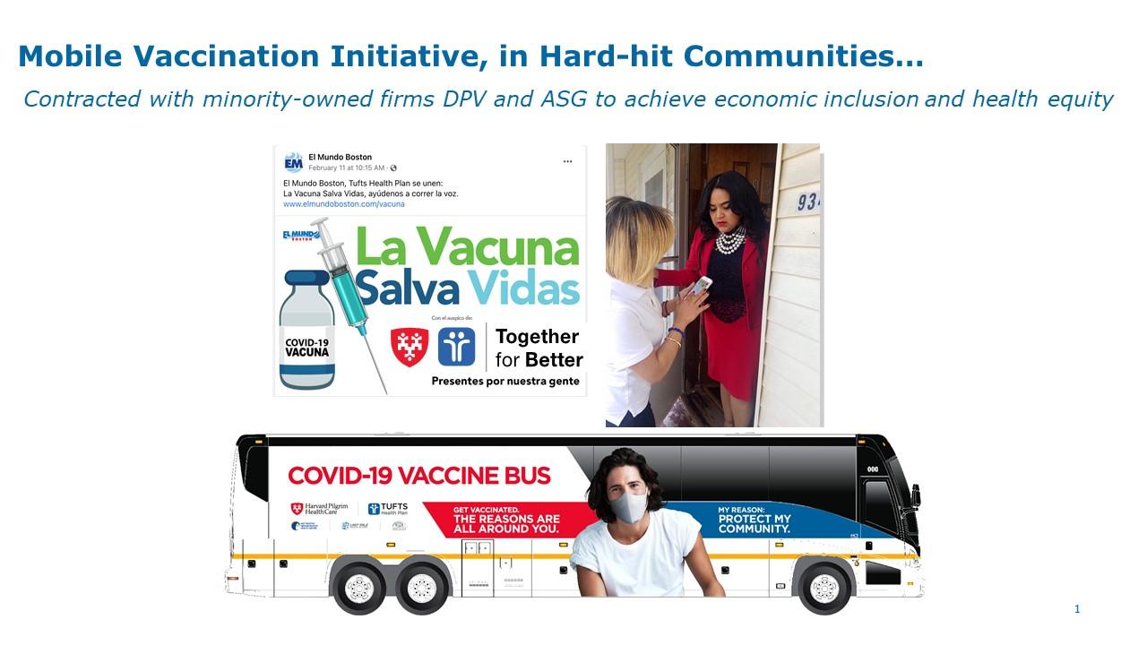 Mobile van vaccine initiative