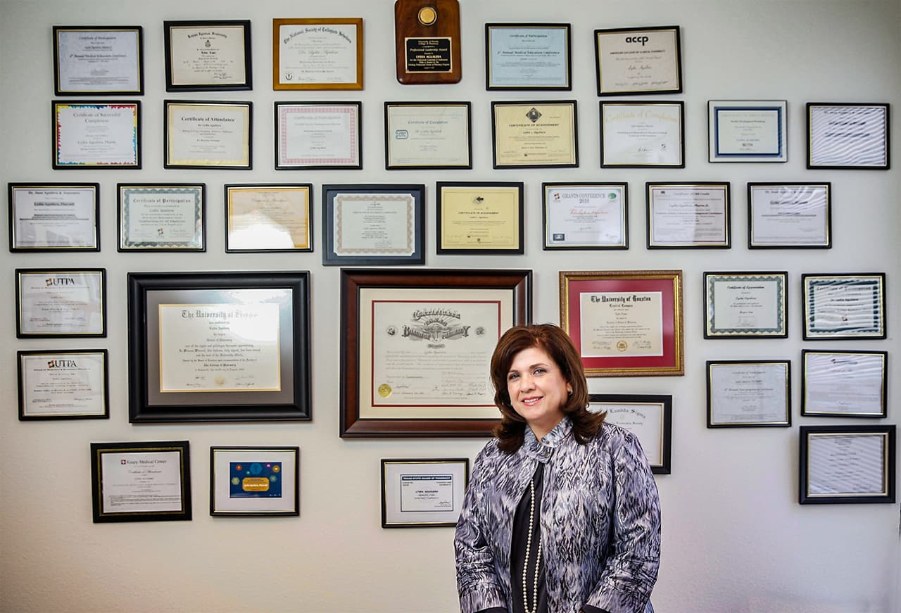 UTRGV's Dr. Lydia López Aguilera gains highest standard of certification for pharmacists