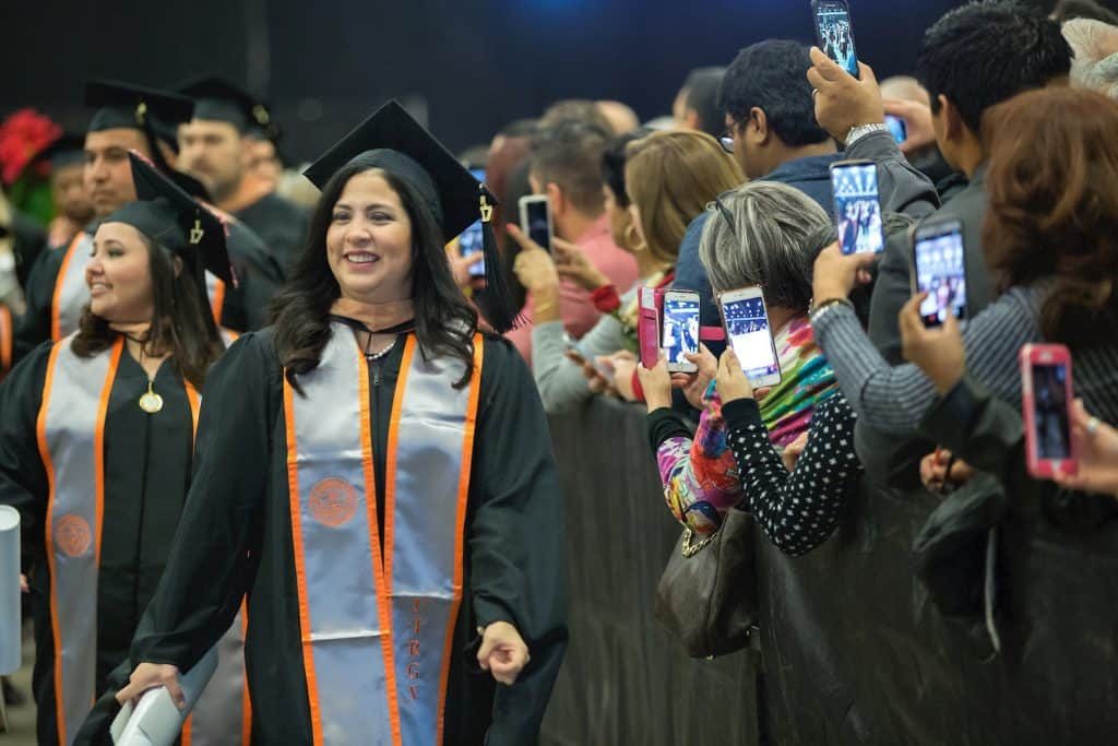 UTRGV Winter 9am Commencement for the Robert C. Vackar College of Business & Entrepreneurship and the College of Health Affairs on Saturday, Dec. 16, 2017 at the McAllen Convention Center in McAllen, Texas. UTRGV Photo by Paul Chouy